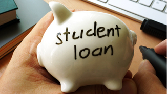 piggy bank that says student loan
